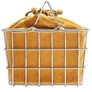 Topshop Mona Yellow Metal Basket Bag